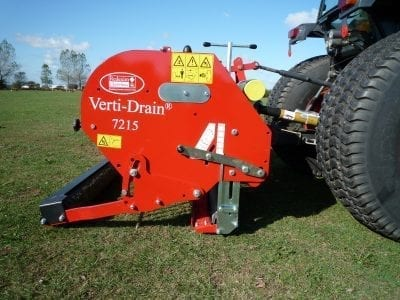 Charterhouse Verti-Drain 7215 with Tractor