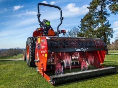 Charterhouse Verti-Drain 7416 with Tractor