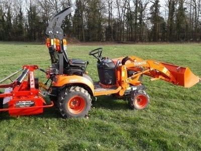 1m Power Harrow with Tractor