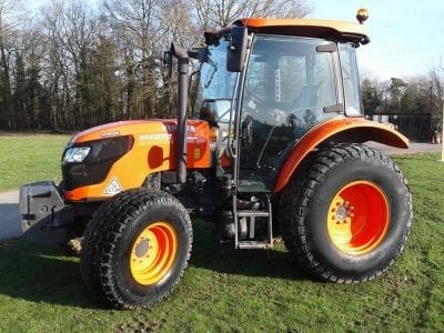 Kubota M4072 tractor for events